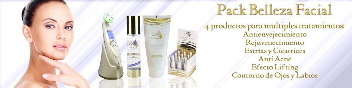 Pack belleza cosmetica facial. Aparato de belleza. Cosmética de calidad. cosmética española